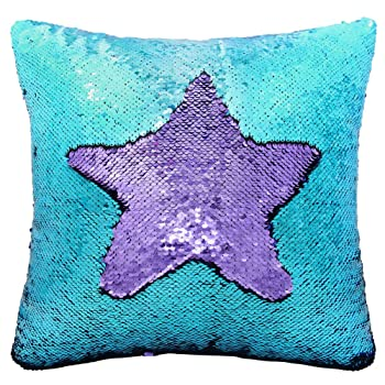 Mermaid Sequin Pillow with Insert