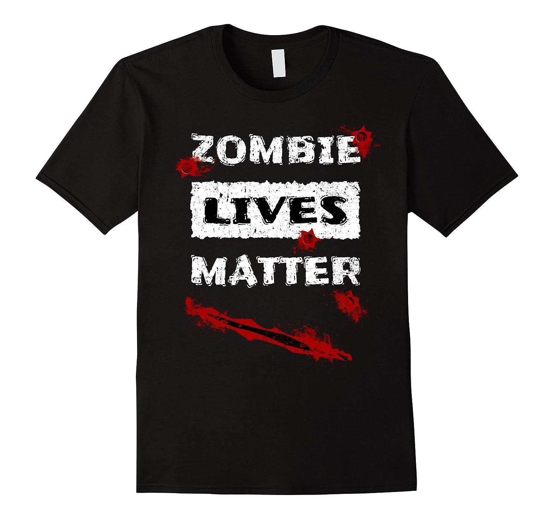 Zombie Lives Matter Funny Halloween T-Shirt-BN