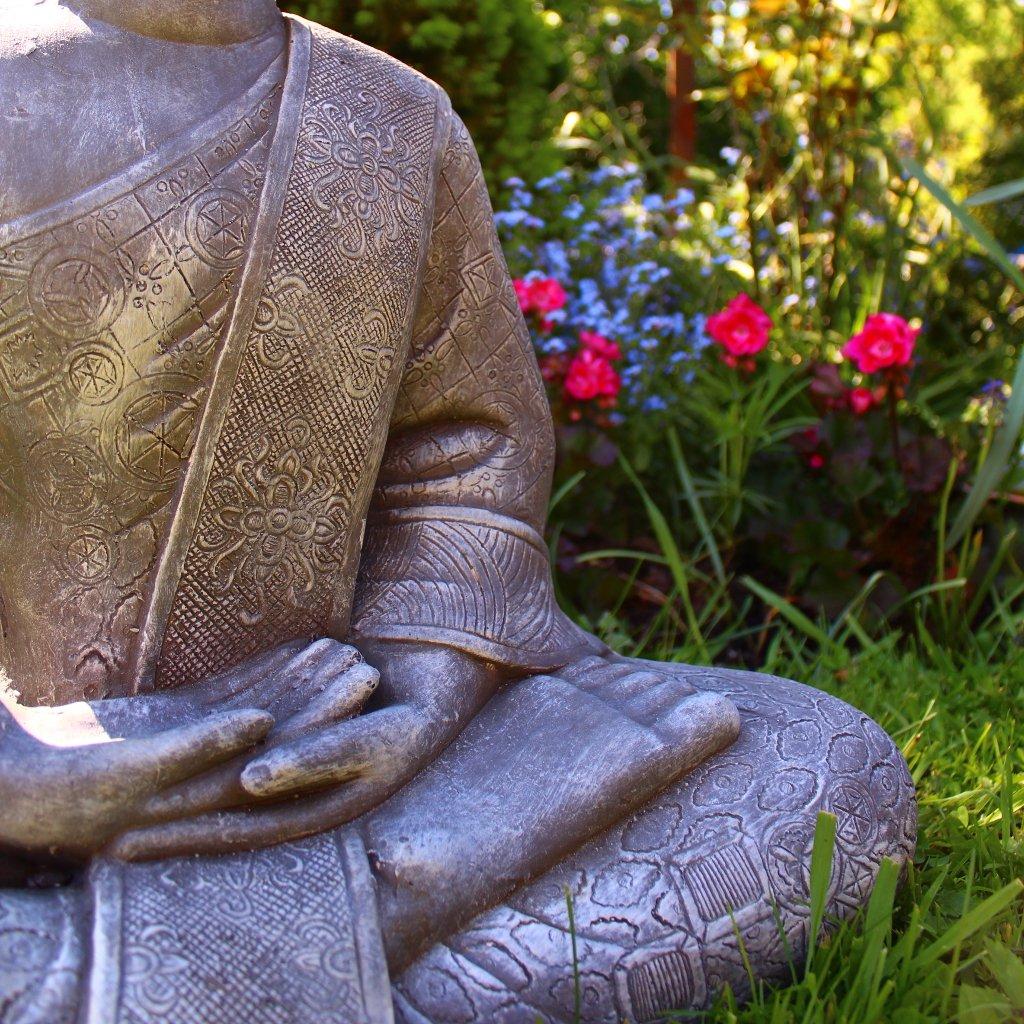 Estatua de Buda Grande 65 cm sentado Figura decorativa para salón ...