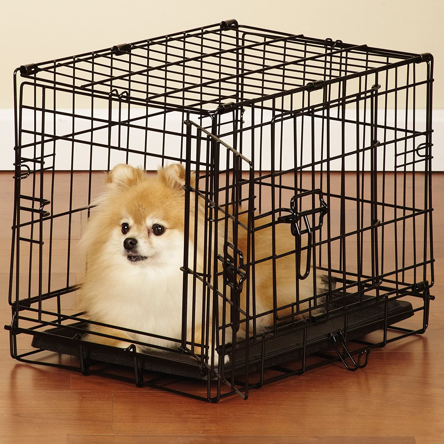 small dog crates heavy duty wire dog crates for small to extra  - amazoncom easy dog crates black xlarge pet beds pet