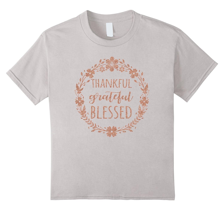Thankful Grateful Blessed Shirt Glitter-Awarplus