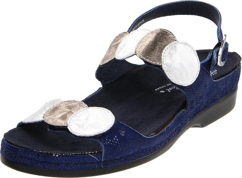 Helle Comfort Women's Tula Sandal B005HERLOC 38 M EU / 7 B(M) US|Jeans/Silver