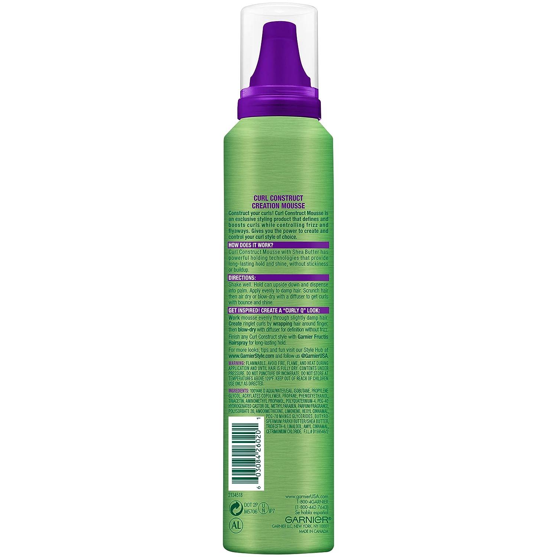 Amazon Com Garnier Fructis Style Curl Construct Creation Mousse Curly Hair 6 8 Oz Curl Enhancers Beauty