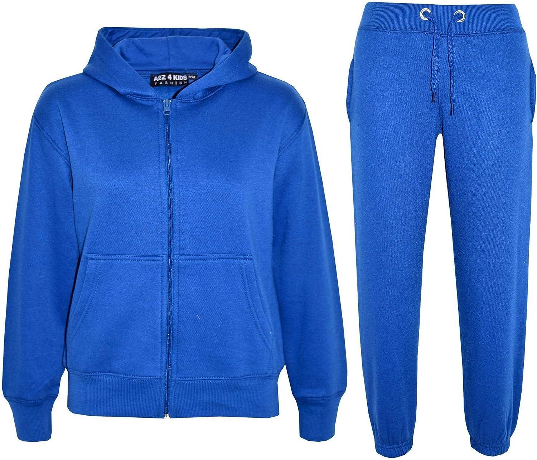 A2Z 4 Kids/® Kinder M/ädchen Jungen Einfach Trainingsanzug Mit kapuze Hoodie Hosen Jog Suit Jogginghose s Neu Alter 7 8 9 10 11 12 13 Jahre