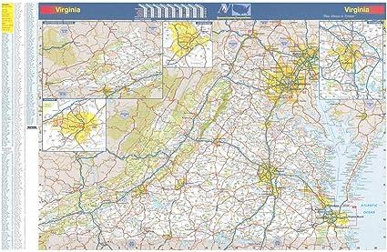 Amazon.com : 36x54 Virginia State Official Executive Laminated Wall ...