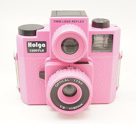 Holga 120 gtlr rosa formato mediano 120 Cámara de cine doble lente ...