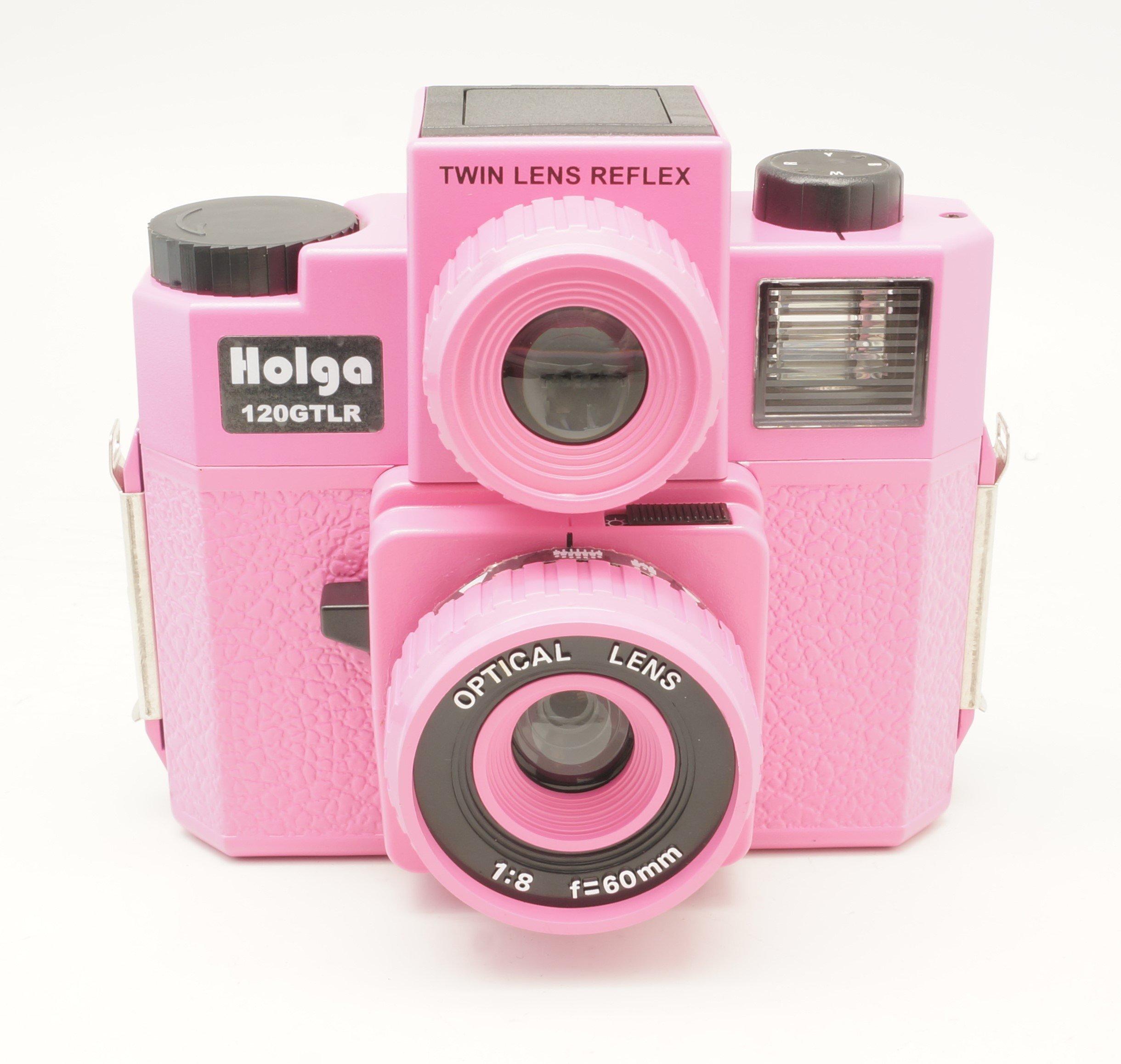 Holga 120GTLR Pink Medium Format 120 Film Camera Twin Lens Reflex (discontinued) by Holga