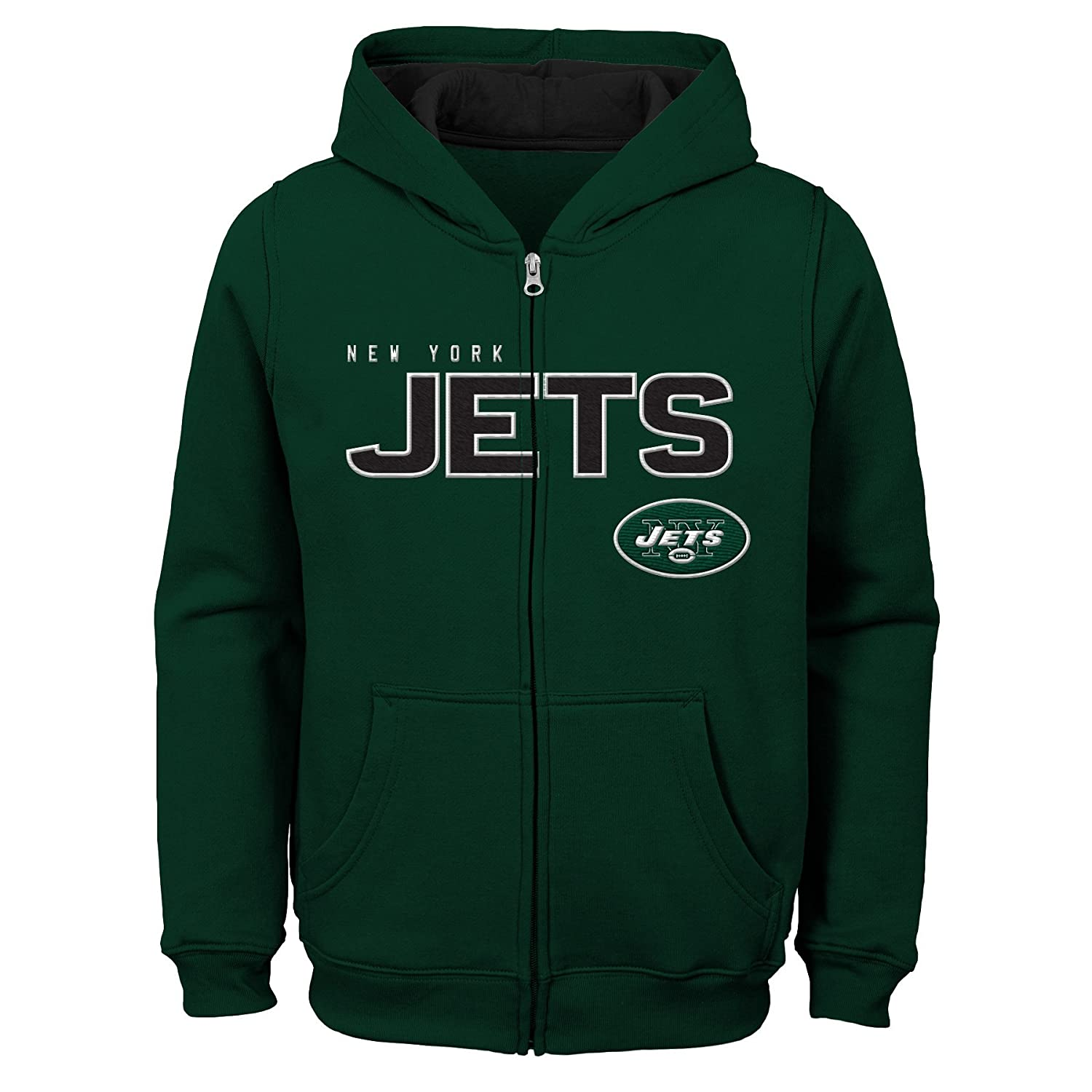 Outerstuff New York Jets Youth NFL Game Stated Full Zip Hooded Sweatshirt