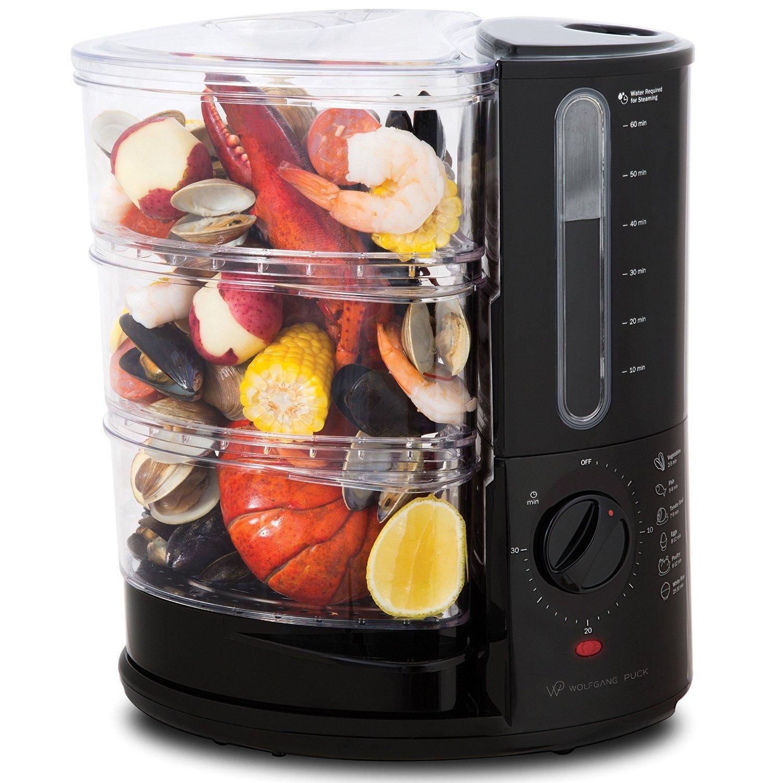 Wolfgang Puck 1400 Watt BPA-Free 3-Tier Rapid Food Steamer - Essential Series by Wolfgang Puck