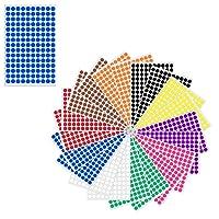 1 cm Multicolore Cercle Ronde Gommettes Autocollants - 10 Assortis Couleurs, Paquet de 3000