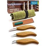 BeaverCraft S15 Whittling Wood Carving Kit - Wood Carving Tools Set - Chip Carving Knife Kit - Whittling Knife Set Whittling