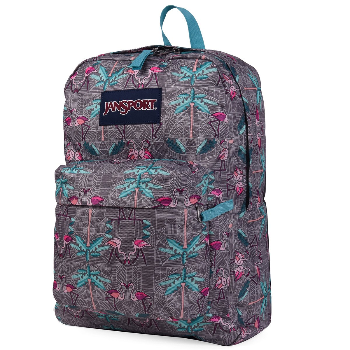 JanSport Unisex Superbreak Flamingo Palace Processing Processing
