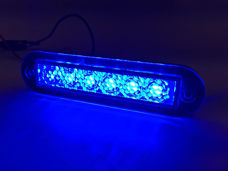 2 of Marine Boat Blue LED Light SS304 Housing Surface Mount 12V 22LM IP67 6LED