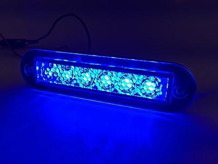 pretty nice 52ad6 9c39e Marine Boat Blue LED Strip Light 14LM Flush Mount 12V 1.2W IP67 4500K  3.9