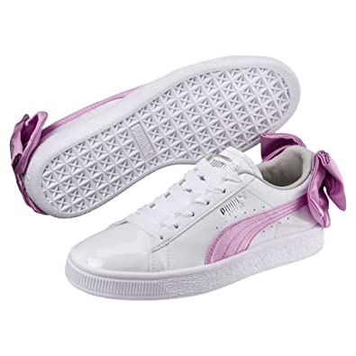 81e96cf41ba0 Puma Basket Bow Patent Mädchen Sneaker  Amazon.de  Schuhe   Handtaschen