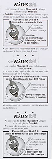 Amazon.com : Fluocaril Kids Toothbrush 2-6 Years-Old : Baby Health And Personal Care Kits : Beauty
