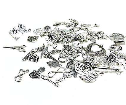 Amazon 100g 70 80pcs mixed charms pendants assorted diy 100g 70 80pcs mixed charms pendants assorted diy antique charms pendant 100g mozeypictures Gallery