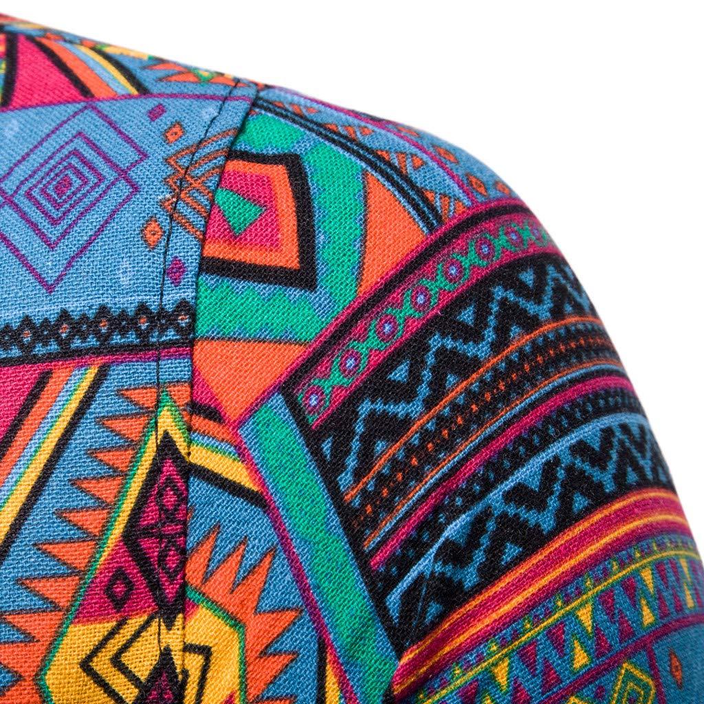Challen Mens Running Tank Top Shirt Fitness Tank Top Singlet,Mens New Pattern Casual Fashion Printing Lapel Printing Short Sleeve Shirt Running Training