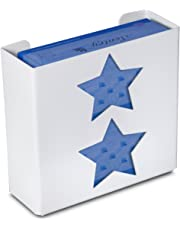 "TrippNT 51259 Priced Right Plastic Star Double Glove Box Holder/Dispenser, 11"" Width x 10"" Height X 4"" Depth, White"