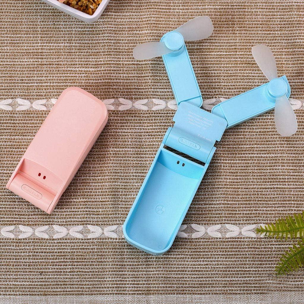 RDTIAN Portable Mini Handheld Fans Small Personal Pocket Little Fan for Home Office Blue