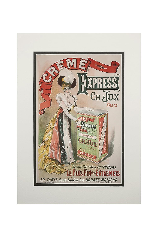 新品本物 Creme Art x ExpressヴィンテージポスターフランスC。1889 11 x 14 Matted 14 Art Print LANT-60176-11x14M B06XZY3YX2 11 x 14 Matted Art Print, 収納家具通販 ワイエムワールド:adb3e85f --- mcrisartesanato.com.br