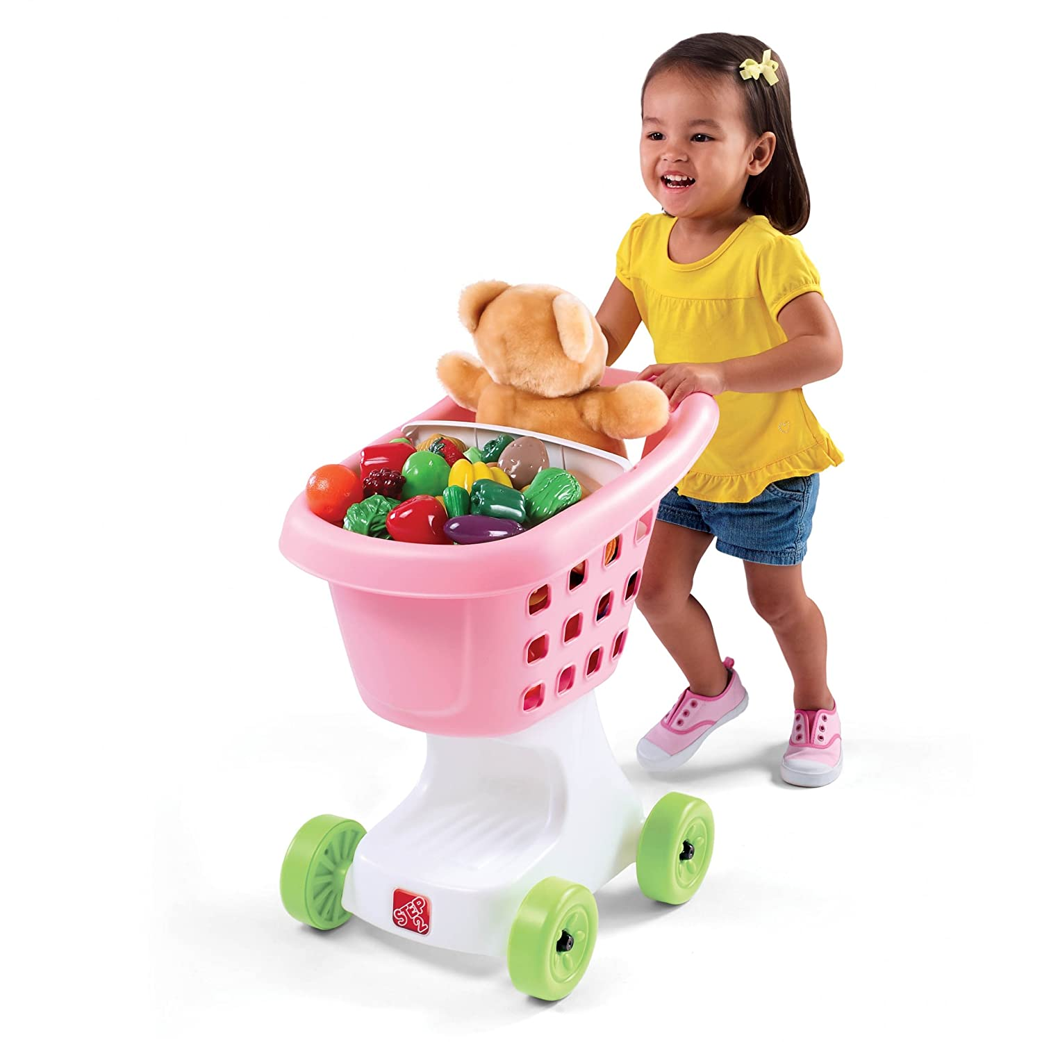 Amazon Step2 Little Helper s Shopping Cart Pink Toys & Games
