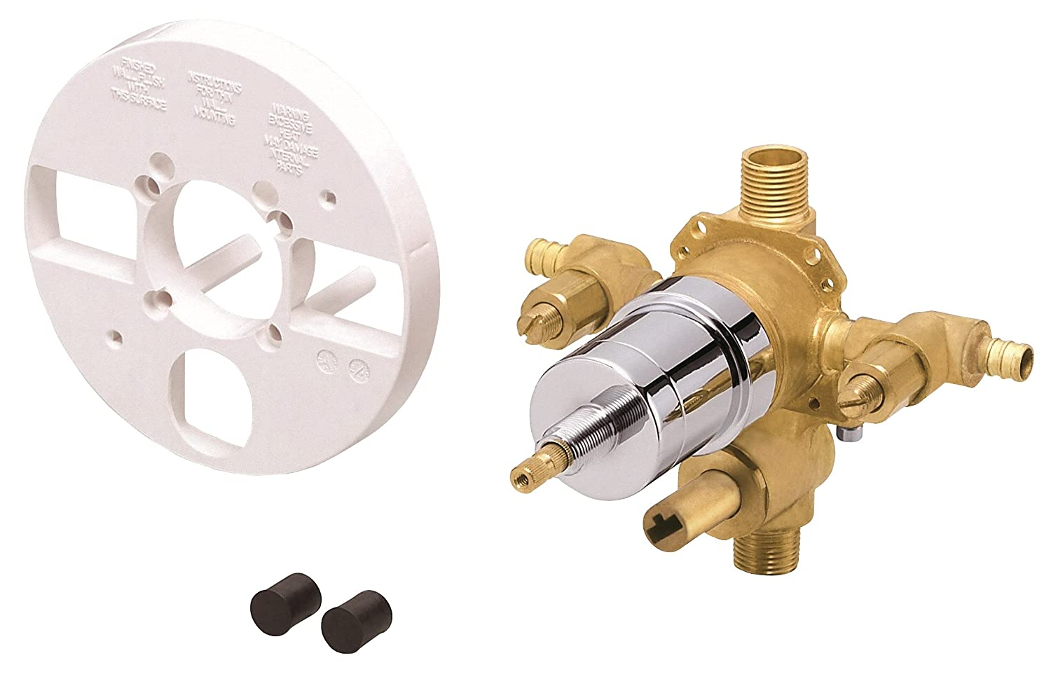 Danze D113010BT Single Control Pressure Balance Mixing Valve with Diverter and Screwdriver Stops for Pex Inlet