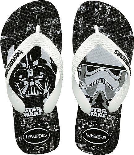 Mens Boys Kids Teens Genuine Havaianas Star Wars Flip Flops Black Sixe New