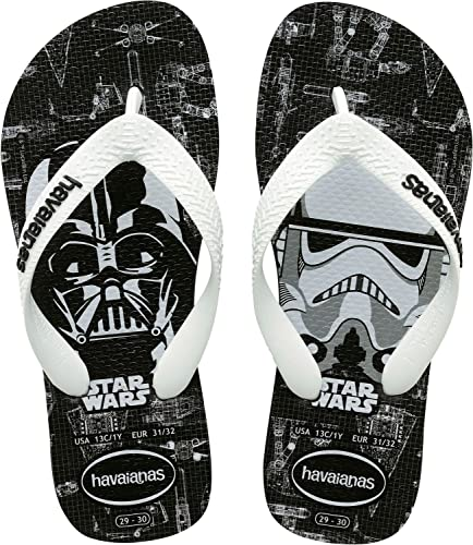 Unisex Adults Star Wars Flip Flops, Black/Red Havaianas