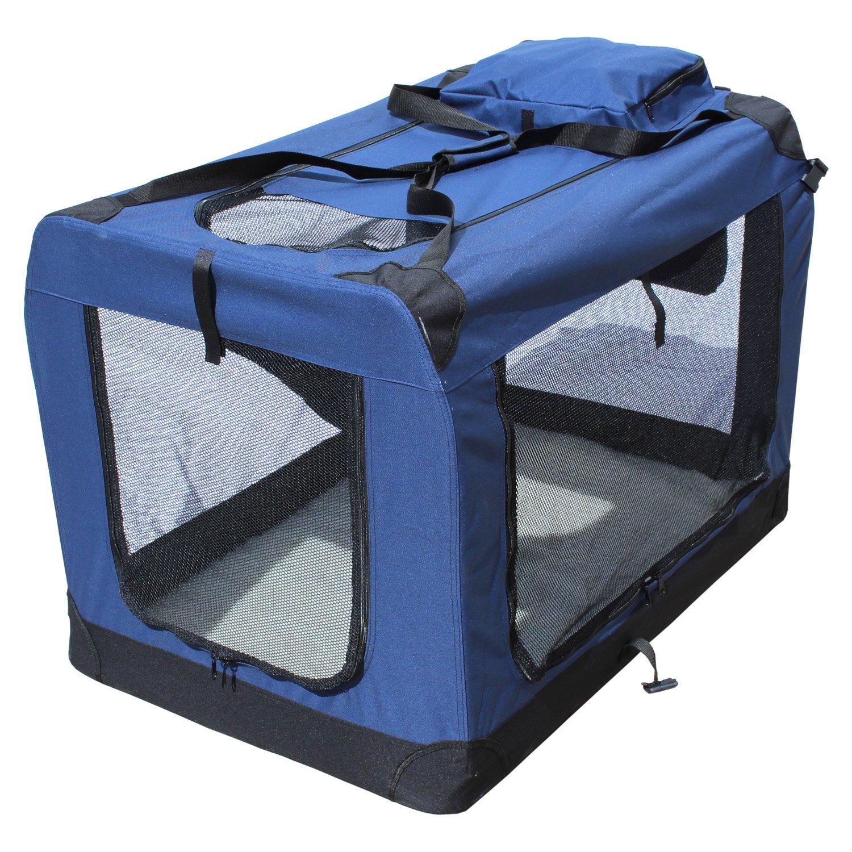 Caisse De Transport Pliable Pour Chien, Porte-chien pliable Yatek avec des entrées latérales et supérieures avec une visibilité, un confort et une sécurité élevés pour votre animal