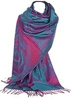 GFM Peony or Floral Pattern Pashmina Style Scarf Shawl Wrap