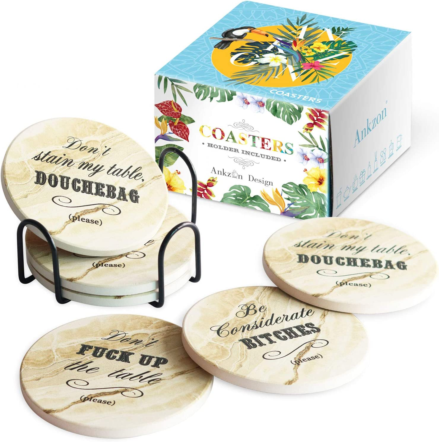 Barware Home Decor Coasters Mix /& Match Set of Coasters Bright colors Drink Coasters Hostess Gift 5038g Housewarming Gift