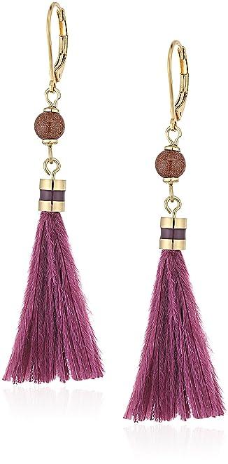 Kate Spade Small Tassel Purple/Multi-Colored Drop Earrings