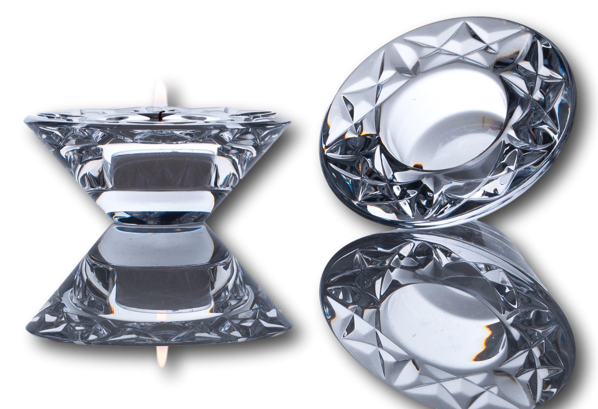 Waterford Loralee Crystal Votive set of 2