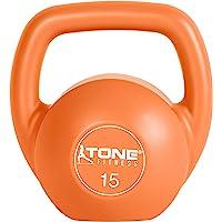 Tone Fitness SDKC2S-TN030-4 Vinyl Kettlebell Set, 30 lb Set