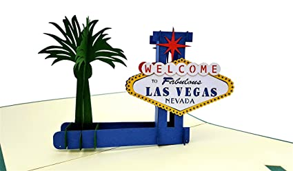 IGifts And Cards Las Vegas 3D Pop Up Greeting Card