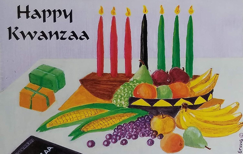 Kwanzaa Candles Box of 18 Kwanzaa Cards by Designer Greetings