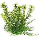 Piante d'acqua artificiale - TOOGOO(R) Decorazione pianta artificiale di plastica per acquario Verde