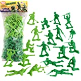 TimMee Plastic Army Men - Green vs Green 96pc Soldier Figures Made in USA