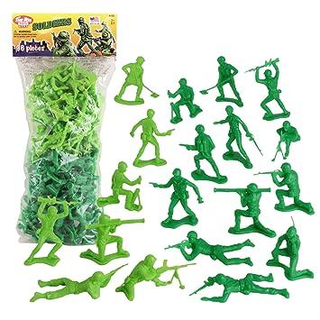 Amazon Com Timmee Plastic Army Men Green Vs Green 96pc Soldier