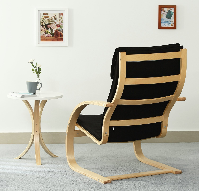 Orolay Moda Sofá Individual Sillones Sofás De Salón Sillón De Relax Negro