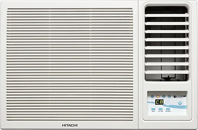 Hitachi 1.5 Ton 5 Star Window AC  Copper,KAZE PLUS RAW518KUDZ1 White  Air Conditioners