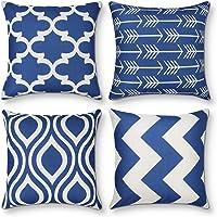 AYUNK Juego de 4 Fundas de Almohada Decorativas de diseño geométrico Moderno,…