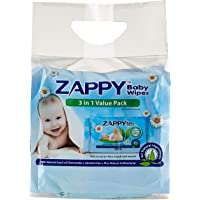 Zappy Baby 30s Wipes Value Pack, 30 ct, (Pack of 3)