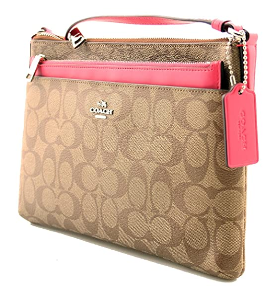COACH EAST WEST CROSSBODY WITH POP-UP POUCH (F58316)  Handbags  Amazon.com 76629527bc