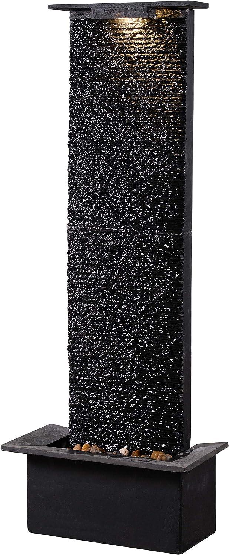 Kenroy Home 51035BLSL Alluvium Fountains, 48 Inch Height, Black Slate Finish