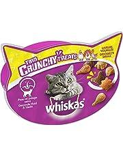 Whiskas Trio Crunchy Treats - Friandises à La Volaille pour Chat, 8 Boîtes de 55g de Récompenses