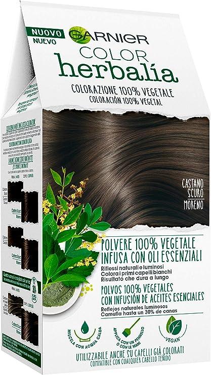 Garnier Herbalia Coloración 100% Vegetal - Moreno, disponible en 6 tonos