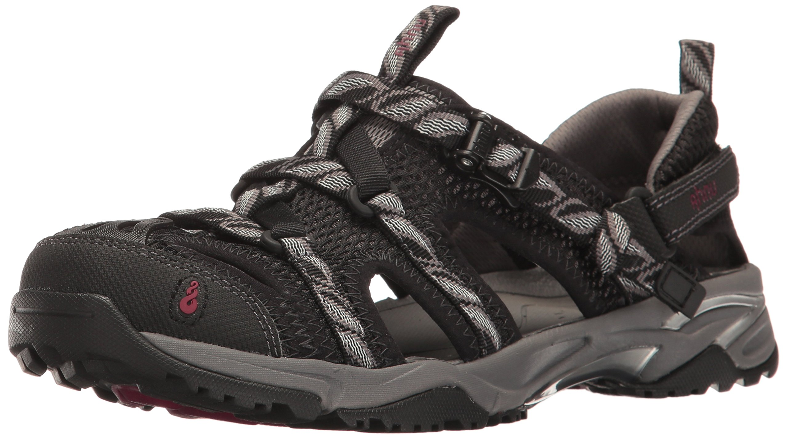 Ahnu Women's W Tilden V Athletic Sandal, Black, 6.5 M US