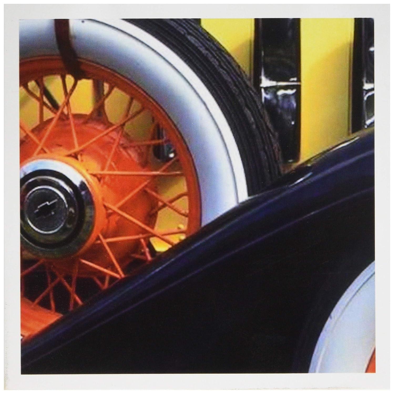 3Drose Vintage Lado Neumático – – Neumático Tarjetas de felicitación, 6 por 6 pulgadas, juego de 12 (gc_16492_2) 972346